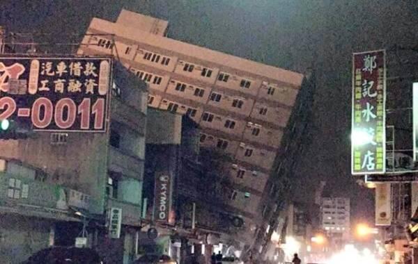 2016年2月6日早晨3时57分,台湾高雄发生6.7级强烈地震,震源深度15千米。