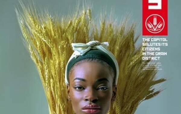 谷物业区病毒海报。
