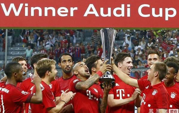 北京时间8月6日凌晨2时45分,德国慕尼黑,2015年奥迪杯决赛在安联球场进行,东道主拜仁慕尼黑1-0绝杀皇家马德里,喜捧冠军。