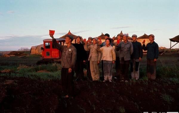 """1968年12月,毛泽东下达了""""知识青年到农村去,接受贫下中农的再教育,很有必要""""的指示,上山下乡运动大规模展开。 1.1968年,北大荒机耕队""""早请示"""""""