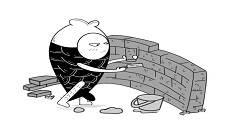 """大鱼漫画:特朗普为啥对""""建墙""""这件事格外上心?"""