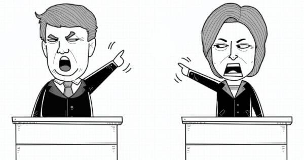 大鱼漫画:内定or投票?一组图弄懂美国总统大选