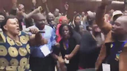 视频|穆加贝和妻子被执政党解除职务 与会者欢呼雀跃