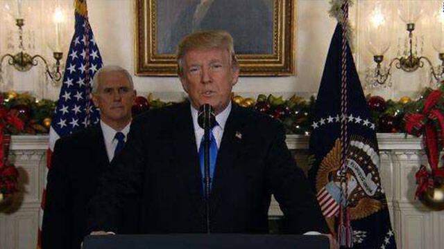 承认耶路撒冷为以色列首都 特朗普称这是新开端
