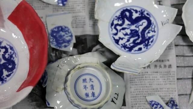 10万碎片拼出6件精品瓷器,圆明园文物修复有多难?