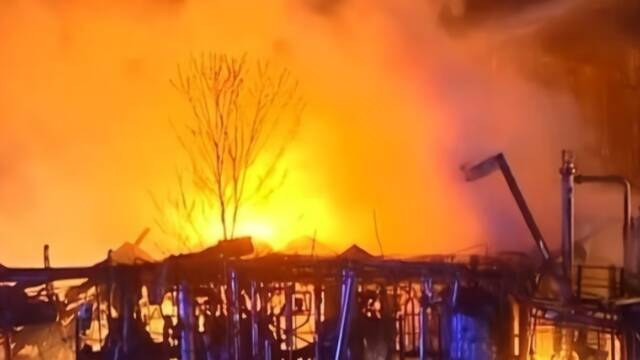 美國化工廠爆炸現場
