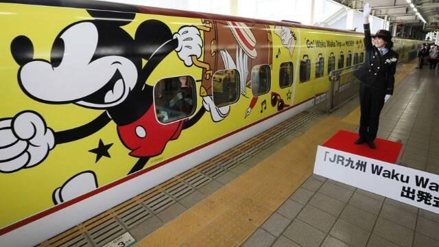 """日本新干线推出""""米奇""""专列"""