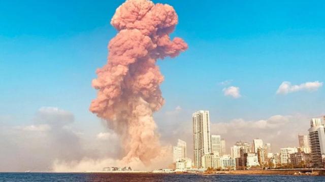 直击黎巴嫩首都爆炸现场