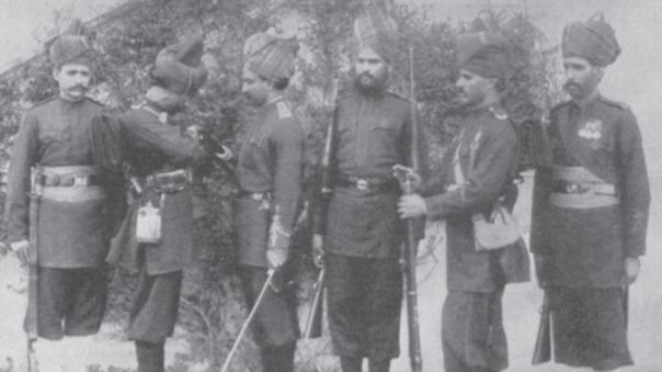 庚子年入侵中国的印度士兵