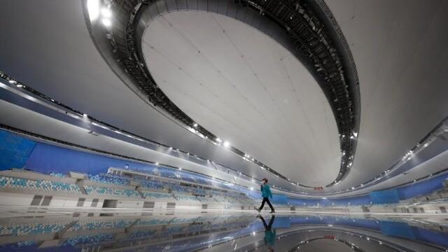 北京冬奥会标志性建筑国家速滑馆完工