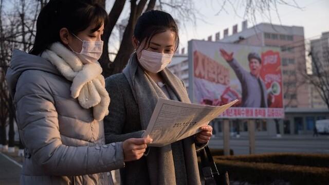 平壤民众关注朝鲜劳动党八大