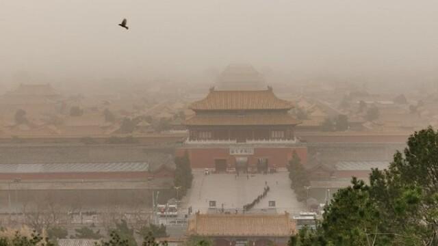 沙塵來襲,北京空氣質量達最高級嚴重污染水平