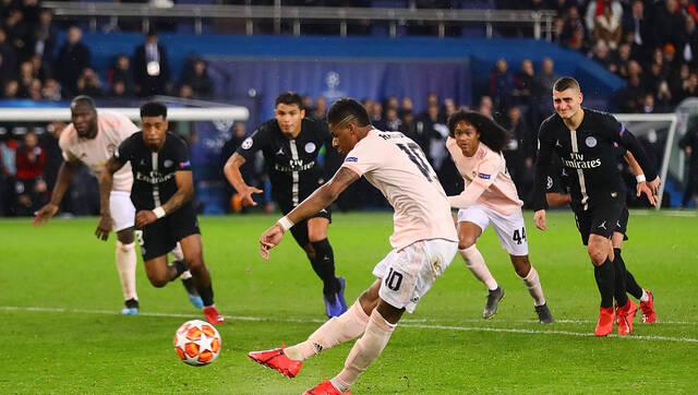 欧冠-曼联3-1绝杀大巴黎 拉什福德点球绝杀