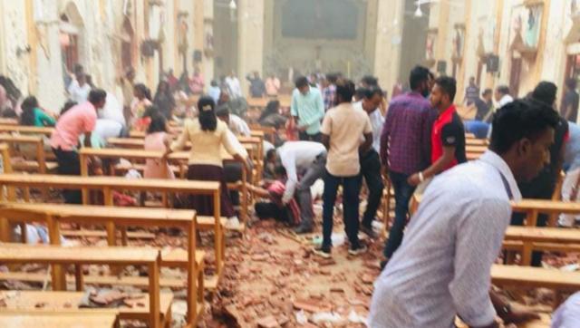 斯里兰卡教堂爆炸现场