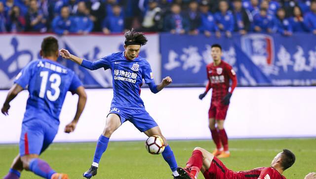 中超-胡尔克吕文君破门 上港2-0申花