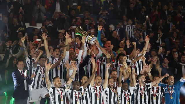 意杯-铁卫2球尤文4-0米兰夺4连冠