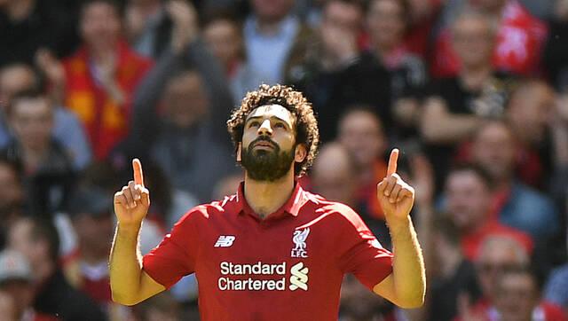 利物浦4-0布莱顿 萨拉赫创纪录