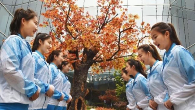 青岛峰会志愿者培训画面