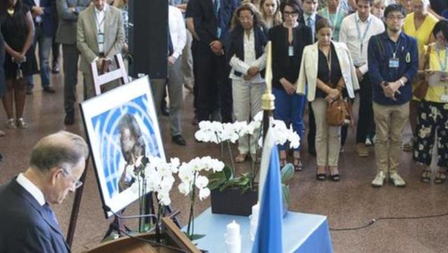联合国工作人员哀悼安南