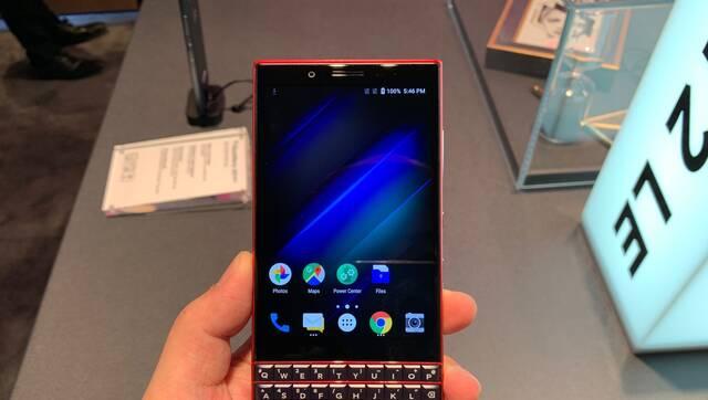 黑莓KEY2手机 红黑配色+实体全键盘
