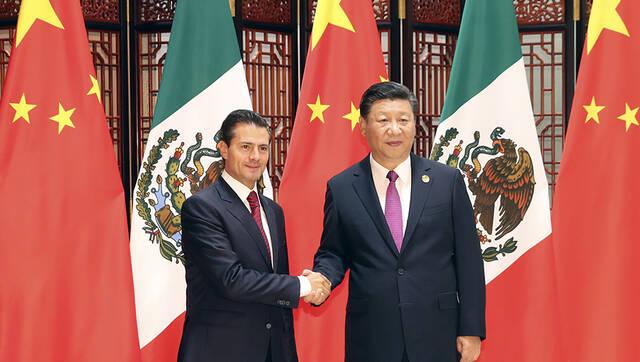 习近平会见墨西哥总统培尼亚丨组图