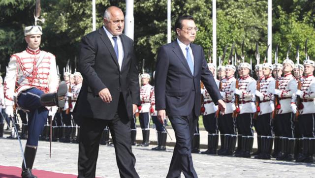 保加利亚总理为李克强举行欢迎仪式