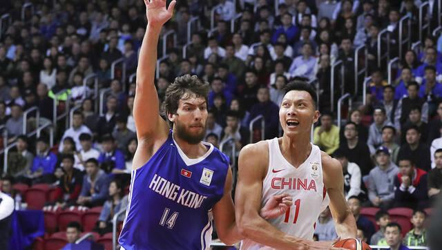 世预赛-男篮蓝队大胜中国香港