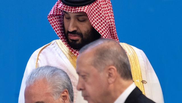 沙特王储与各国领导人见面时的瞬间