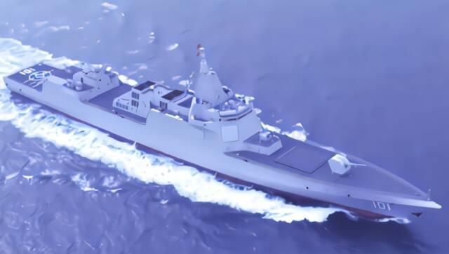 中国海军055大驱海上航行画面首度公开 舷号101
