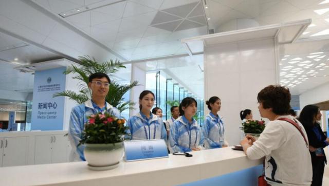 上合组织青岛峰会新闻中心正式开放