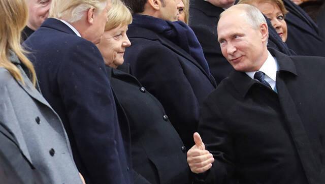 普京给特朗普竖大拇指