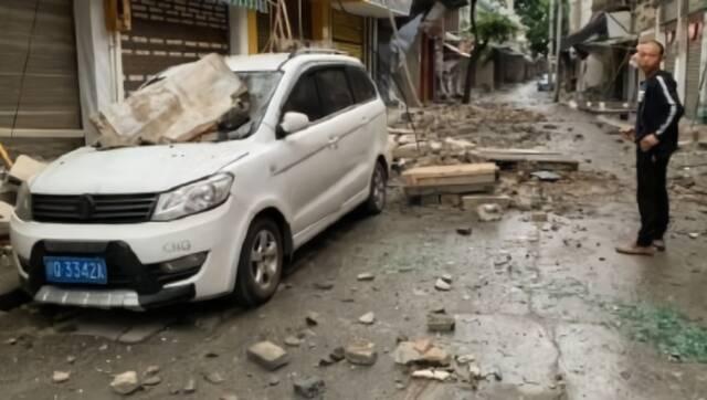 长宁地震救援现场