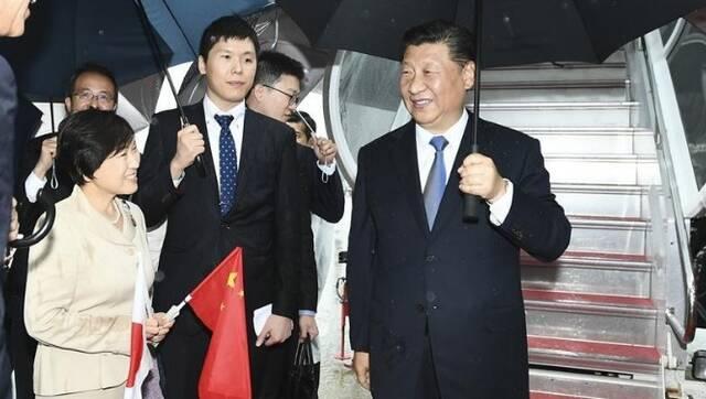 习近平抵达日本出席G20峰会