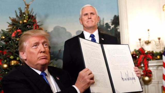 特朗普指示迁移美国驻以色列大使馆