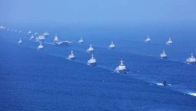 现场图集:中国历史上最大规模的海上阅兵