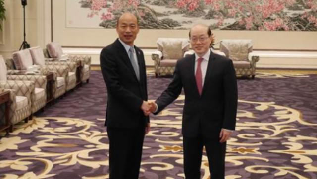国台办主任刘结一会见韩国瑜