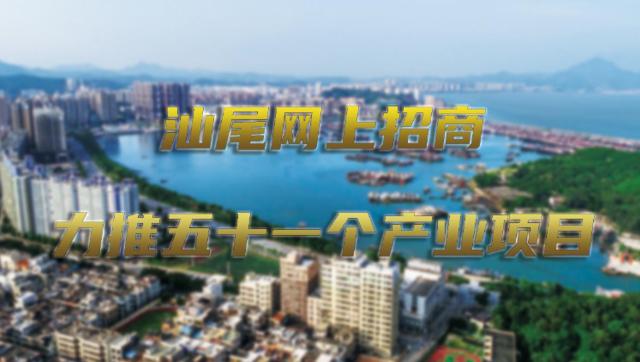 汕尾网上招商力推五十一个产业项目