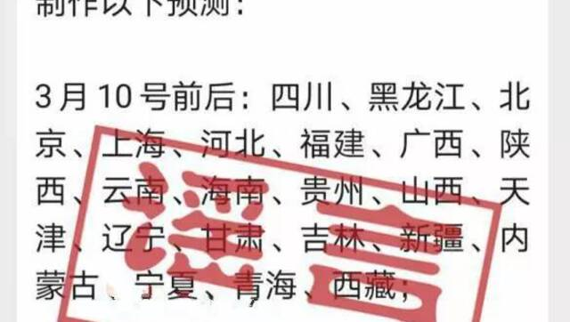 辟谣侠盟 | 钟南山最新预测?3月多省将解除限制?
