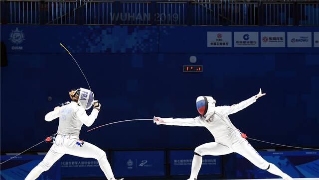 军运会丨女子花剑个人赛俄罗斯奥运名将夺冠