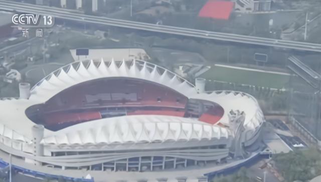 空中俯瞰军运会场馆