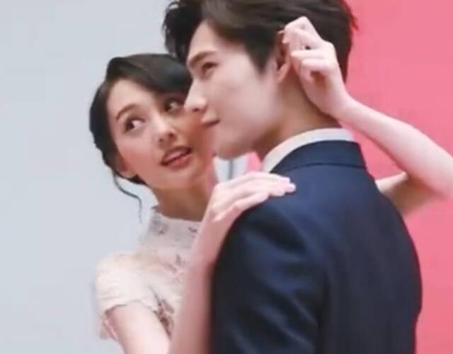 杨洋郑爽合体拍婚纱照
