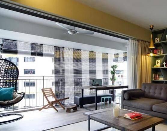 4、阳台的光线可以无遮挡的直射进入客厅,带来更明亮的感受,整个房子会显得更加的通透。
