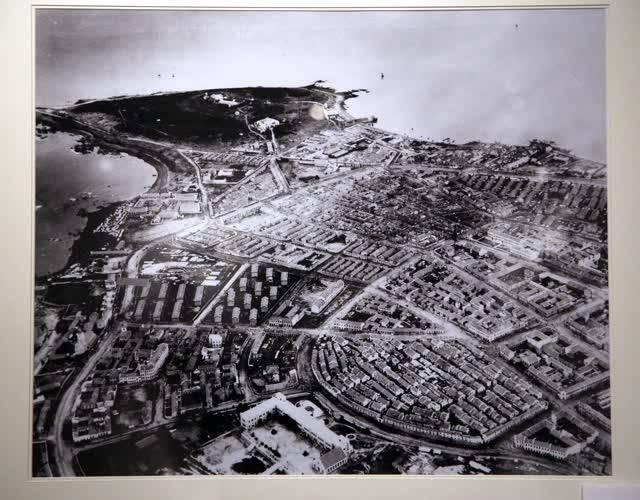 青岛的海湾和街区。