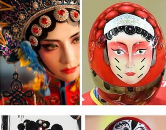脸谱女手绘图片