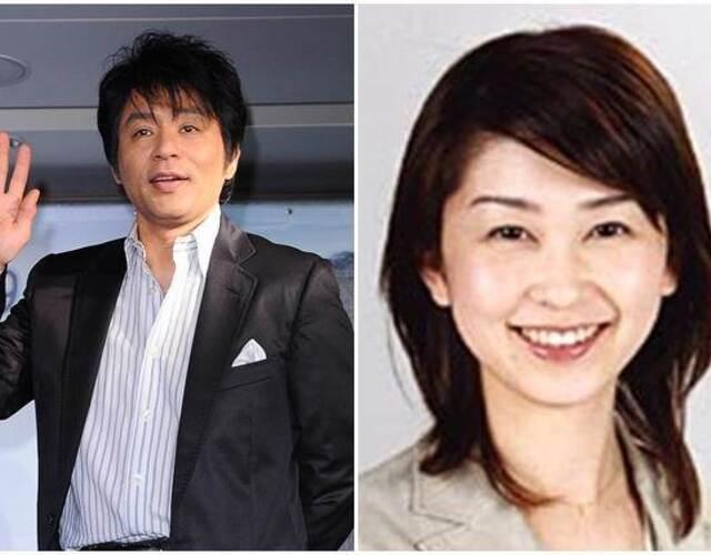 """据台湾媒体报道,日本乐团""""恰克与飞鸟""""59岁成员飞鸟凉(ASKA)宣布离婚!他和结婚30年的新闻播报员妻子八岛洋子上月离婚,他表示:""""29岁时结婚,从那时候开始到现在已有30年,但我们在上个月已离婚,将走向各自的未来。""""他感谢妻子对他一直的付出,但并未说明离婚理由。他曾在2014年当红的时候,被曝与小三吸食毒品,最终遭判刑3年、缓刑4年。可以说飞鸟凉因吸毒,亲手毁了自己的人生。图为飞鸟凉与妻子。"""
