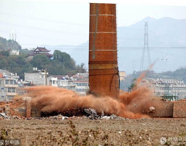 这些轮窑拆除后,该市将增加土地面积1150亩,并对之实施复耕复绿。