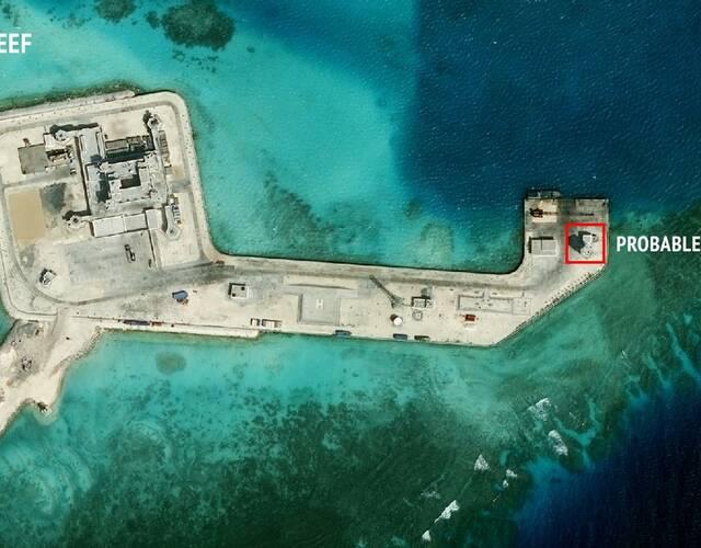 实际控制的南沙7座岛礁进行扩展建设