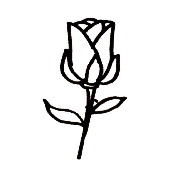 9种玫瑰花简笔画的画法,家长们收干货了,周末教宝宝最