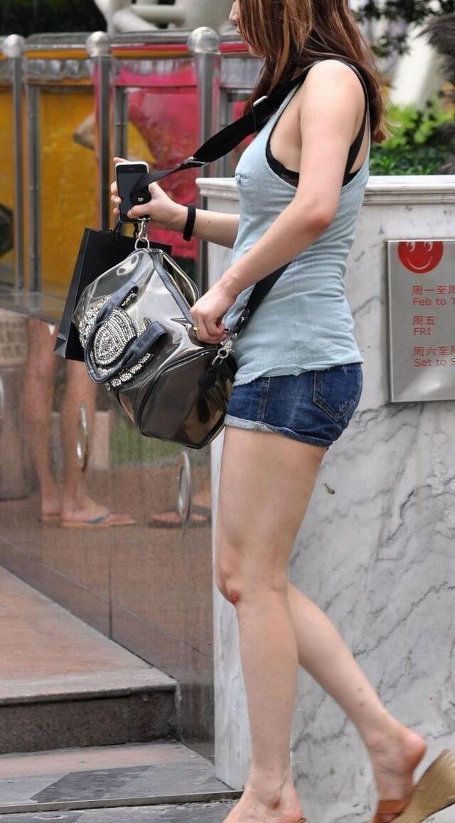 无丝美腿牛仔热裤女孩两组