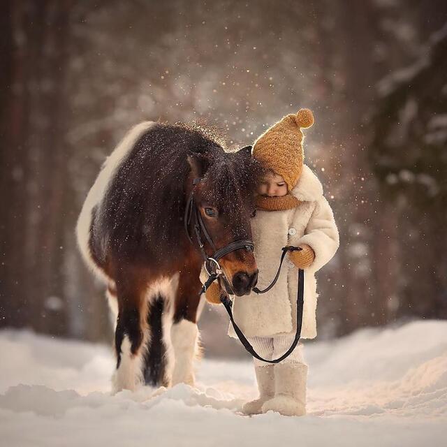 孩子和动物拍照原来是这么的好看!